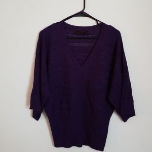 Purple sweater, size M